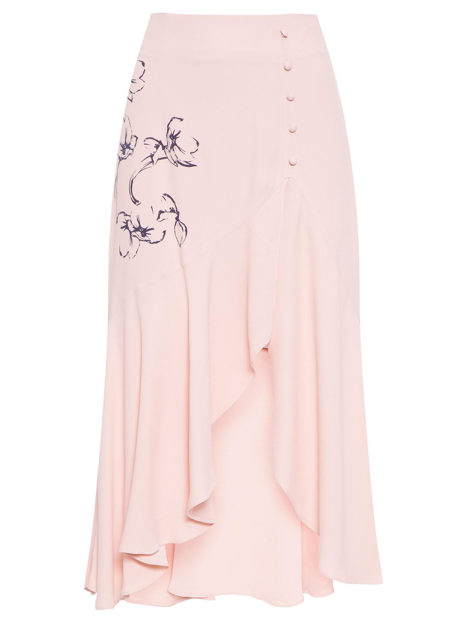 Saia Midi Silk Prímula - Maria Filó - Rosa - Shop2gether 8454f66d1b628