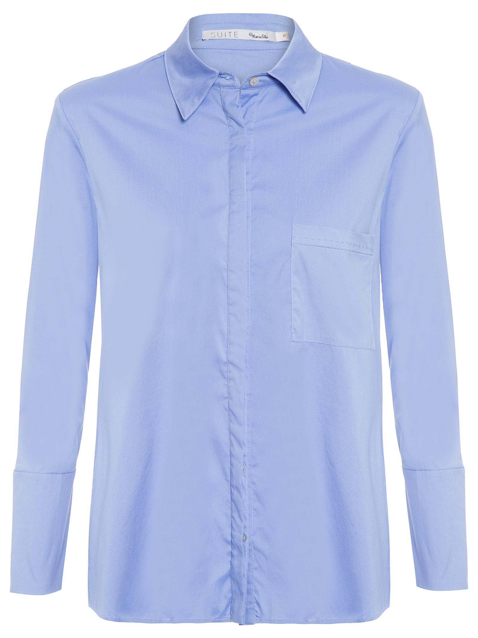 b012afff6c587 Camisa Feminina Ponto Picado - Maria Filó - Azul - Shop2gether
