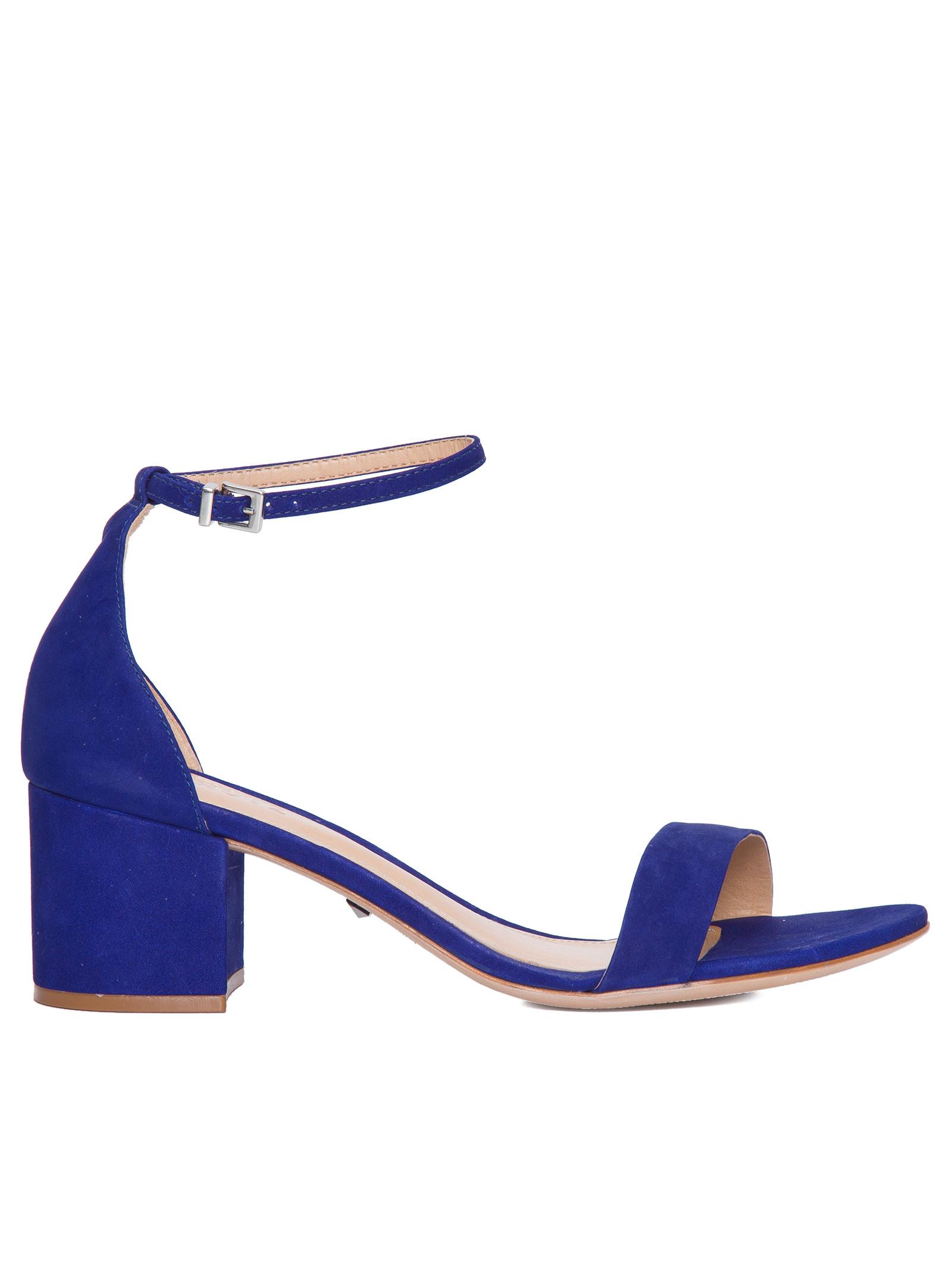 797d37b3c Sandália Feminina Minimal Block Heel - Schutz - Azul - Shop2gether